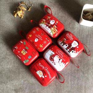Karikatür Teneke Madeni Para Çanta Noel Hediyesi Kasa Mini Anahtarlık Değişim Çanta Cüzdan Kulaklık Noel Dekorasyon GGA2844