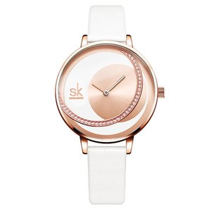 Shengke циферблата Lady часы платье наручные часы Оригинальные дизайн кварцевые наручные часы 001 Творческий кварцевые часы наручные часы Ultra Thin