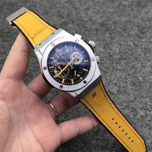Новый модный бренд мужские часы прозрачный ремешок Спорт на открытом воздухе кварцевый большой циферблат календарь часы роскошные часы все SUB work