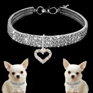 Collar para perro gato Accesorios Producto Perro Mascota de la fuente, la etiqueta de perro Cadenas correa, correa Shine joyería collares de perro de cristal