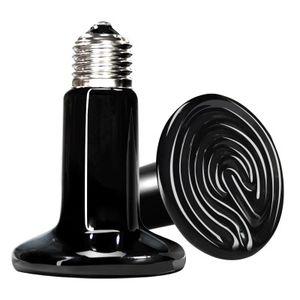 Isı Verici Basking Seramik Ampul Pet sürüngenler ve amfibiler için 25W / 50W / 75W / 100W / 150W / 200W Sürüngen İnfrared Isıtıcı Lamba