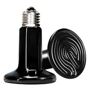 Emisor de calor Basking bulbo de cerámica 25W / 50W / 75W / 100W / 150W / 200W reptil Calentador infrarrojo de la lámpara para reptiles y anfibios mascotas