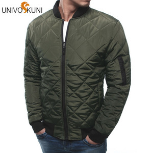 UNIVOS KUNI Winter Men's Jacket High Quality Fashion Jackets Slim Fit Casual Cotton Streetwear Vintage Men  Clothing J519