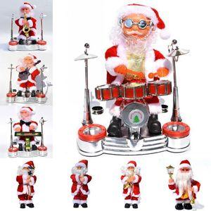 Электрический Санта Клаус Кукла Игрушка Рождественское Пение Музыкальная Кукла Игрушка Дети Рождество Санта Игрушки Рождественские Украшения Дома Ремесла
