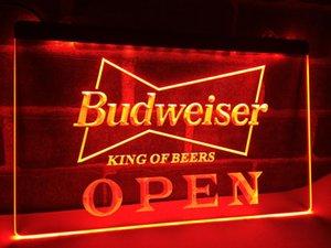 LE113- OPEN Budweiser Beer NR Pub Bar LED Neonlicht-Zeichen Wohnkultur Handwerk