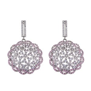 Fashion fashion creative luxury hollow Zircon Earrings wedding dress banquet Bridesmaid accessories