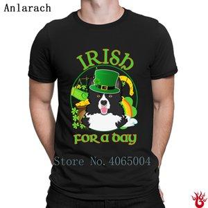 Irlandais un jour Border Collie T-shirt drôle décontracté de remise en forme à manches courtes T-shirt pour homme Printemps Automne Loisirs Vintage HipHop Hauts