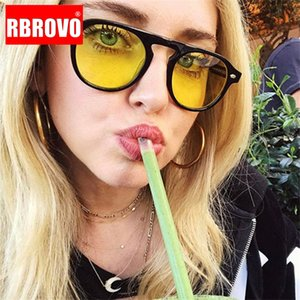 RBROVO 2020 Classic Ocean Lens Women Sunglasses Vintage Plastic Eyeglasses Street Beat Shopping Mirror Gafas