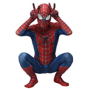Adulto Crianças Spider-Man 3 Raimi Homem Aranha Traje Cosplay Zentai Superhero Bodysuit Terno Macacões