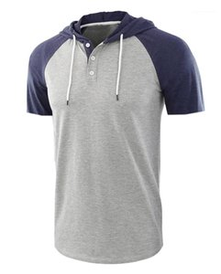 Homens No Topo Estilo Europeu Fashion Mens O Neck Splice Color Tops Designer T-Shirts Summer Short Sleep