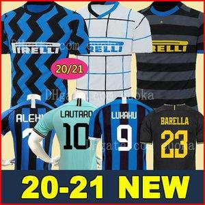 Lukaku Lautaro SKRINIAR Inter 2019 2020 Milan futbol formaları ALEXIS SENSI Barella forması 19 20 futbol üst kiti gömlek Erkekler Çocuk üniforma setleri