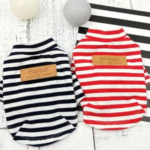 2018 Hot Spring Pet Summer Clothes for Dogs Striped Dog Vest Cotton Clothes Dog Soft Breathable Tshirt for Cat Small Dogs XS-XL