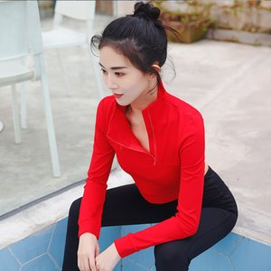 2020 New Fitness Sweater Women's Sexy Running Blouse Long-sleeved Fitness Clothes Solid Color Personality Yoga Shirt