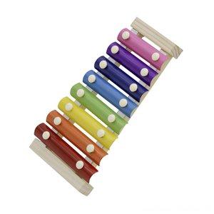 Çocuklar Çocuklar için Ahşap Tokmaklar Çin dize dizeleri Perküsyon Müzik Aletleri Oyuncak Hediyelik 8Note Renkli Ksilofonlar Glockenspiel