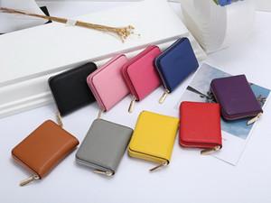Klasik moda küçük cüzdan Madeni Para Cüzdan kadın cüzdan tek fermuar cüzdan kadın pu deri çanta 0011