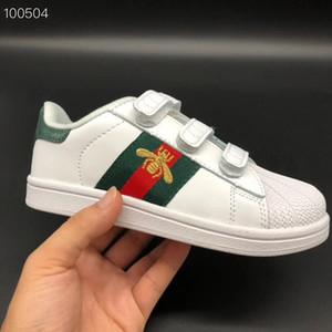 Ace ricamati Api bambini dei pattini casuali delle scarpe da tennis Shell punta infantile delle ragazze dei neonati Childen atletici Sneakers Trainers Toddlers