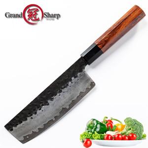 6.7 Pouce Chinois Main À La Main Nakiri Couteau Japonais AUS10 Acier À Haute Carbone Cuisine Couteaux Chef Cuisine Outil Cadeau Boîte Grandsharp