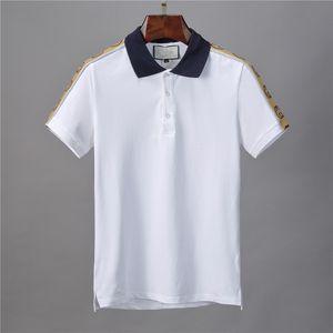 Moda Çiçek Aşağı Yaka Yazdır çevirin 2020 Yaz Streetwear Lüks Polos Tişörtlü Erkekler Tasarımcı Polo Gömlek Tişörtler Erkek Casual Gömlek Tops