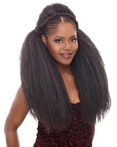 """3Pcs / Lot 18 """"Afro Marely Braids 헤어 트위스트 크로 셰 뜨개질 머리카락 컬 컬렛 크로 셰 뜨개질 합성 머리카락 100g / Piece Brown Black"""