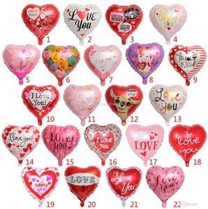 Ballons de fête gonflables ballons de fête de mariage décorations 18 pouces en forme de cœur ballons en feuille d'hélium Ballons de fête