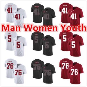 2020 Personalizza NCAA Alabama Crimson Tide di calcio maglie Courtney Upshaw 41 Cyrus Jones 5 D.J. Fluker 76 Maglia qualsiasi dimensione numero nome S-5XL