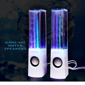 المتحدثون LED ضوء الرقص المتحدثون المياه الموسيقى نافورة ضوء لأجهزة الكمبيوتر المحمول الهاتف المحمول مكتب ستيريو الرقص المياه رئيس