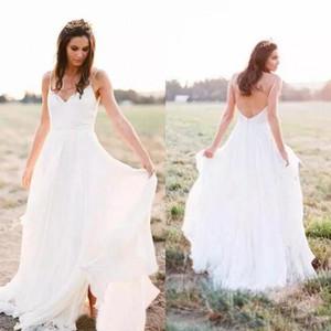 Charming 2019 Chiffon Böhmischen Brautkleider Günstige Backless Side Split Brautkleider Nach Maß China