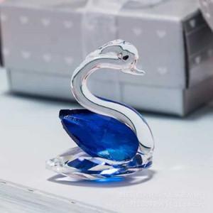 4 cores 50Pcs Swan cristal da lembrança do casamento para chá de bebê da menina do menino do aniversário do partido Favor Box Regalos Boda Anniversaire