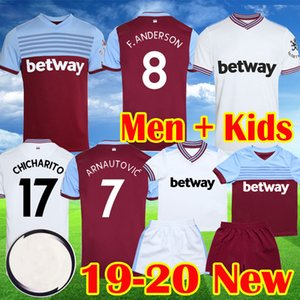 19 20 maillot de foot West Ham 2019 2020 Nouveaux maillots ARNAUTOVIC Maillot de foot uni ANDERSON camiseta CHICHARITO maillot de foot enfants