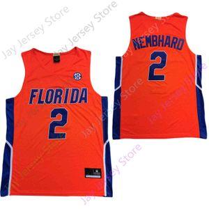2020 Новая Флорида Аллигаторы Статистика College Basketball Джерси NCAA 2 Maceo Austin Orange Все прошитой и вышивки Мужчины молодежи Размер
