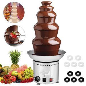 5-Tier Chocolate Fountain 68cm Commercial Chocolate aço inoxidável Fonte Chocolate Fondue Fountain para festa de casamento