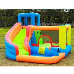 Parc toboggan gonflable Eau Combo Bounce House pour Kids Party en plein air avec soufflerie d'air pour famille Commercial