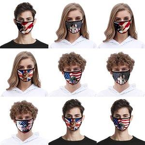 На складе Donald Trump Дизайнер Luxury многоразовый моющийся хлопчатобумажной ткани моды рот Face Mask США Женщина Мужчины UniSex 17 Стили голодает корабль # AQ612