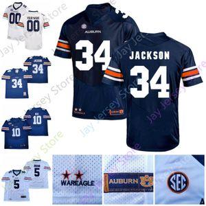 Coutume Tigers Football Jersey NCAA Bo Jackson Cam Newton Bo Nix JaTarvious Whitlow Eli Seth Williams Stove Truesdell Davidson Martin