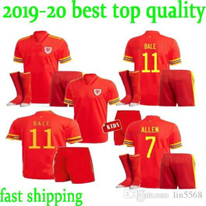 in stock best quality Kids kit Wales soccer jersey BALE ALLEN James Ben Davies Wilson camisetas national team football shirts