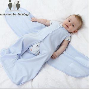 Miracle Baby 66cm 100% Cotton Baby Sleeping Bag Infant Sleepsacks Newborn Swaddle Wrap Baby Anti Tipi Quilt 0-6 Months CX200603