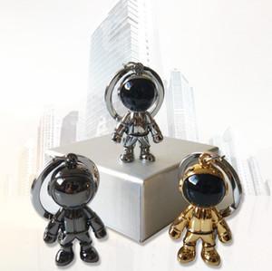 Spaceman Robot Car Keychain Astronaut Key Pendant Anel chave de presente 3 cores