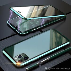Hotsell Case magnétique Pour Iphone11 Pro 11 11Pro Max 2019 360 Double Side Coque Verre Trempé Métal Téléphone Fundas Couverture Magnet Cases