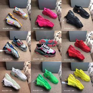 Üçlü S Temizle Kabarcık Orta taban Günlük Ayakkabılar Çok renkli kombinasyon ayakkabı Womens Moda ayakkabılar Yüksek Üst Kalite des chaussures