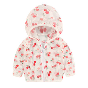 Kids Sun Protection Clothings Boys and Gilrs Outdoor Coats 2020 Summer Baby Outdoor Wear Children Print Hood Coat Clothing