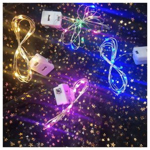 LED Strip Lights 1M DIY Handmade Gift Decoration Copper Silver Wire Light Battery Fairy LED light For Christmas Halloween Home Party Wedding