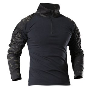 Male Outdoor Tactical Military Hiking T-Shirts Army Camouflage Long Sleeve Sports T Shirt Breathable Sport Clothes Pro Wear