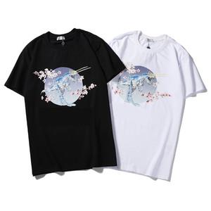 Mujeres del diseñador de la camiseta de manga corta cuello redondo imagen impresa verano camisas de lujo de la marca de moda casual mujer diseñador camiseta