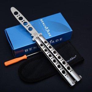 Benchbutterflymesser Theone BM40 Trainer Blade-Buchse System Vollen gefräst skelettiert Red Fertige Busing System-Taschenmesser
