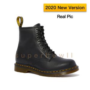 2020 ha aggiornato la versione 1460 Nappa Doc Martens Uomini Calzari Stivali Donna Sole è di olio e grasso resistente con buona resistenza all'abrasione e resistenza allo scivolamento