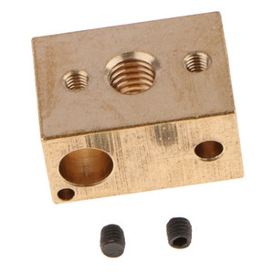 Brass Heater Block Copper Hotend High Temperature V6 Nozzles Extruder[1PACK]