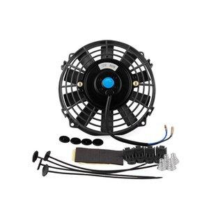 Termo Elektrik Fan Amp Soğutma 7 İnç 12v 80w Araç İnce Radyatör; Montaj Kiti