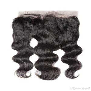 Laço Frontal Fechamento Brasileiro Onda Corpo Remy Hair 13x4 pré arrancado Cabeleireiro com Cabelo Bebê HD Lace Transparente