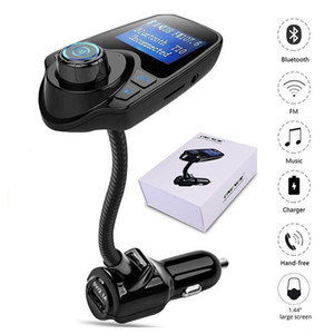 T10 Wireless Car MP3 Bluetooth Car Players LCD Audio Stereo USB Car Charger FM Transmitter Support TF Card with Retail Package