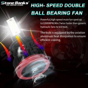 2pcs H7 Car LED Farol Kits High Low Feixe lâmpadas 6000K Branco Névoa